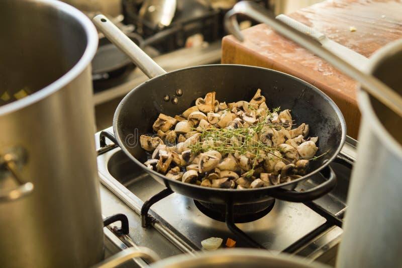 Muschrooms con timo fotografia stock libera da diritti