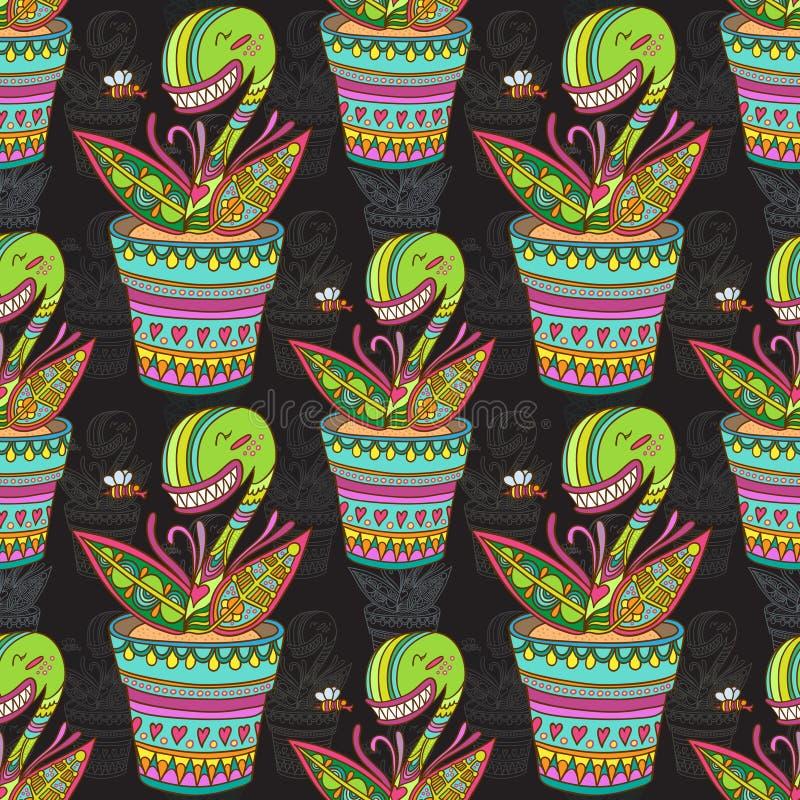 Download Muscipula flower pattern stock illustration. Image of illustration - 50377169