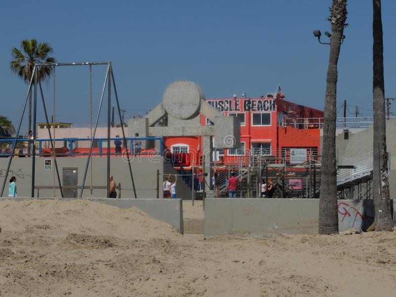 Muscle beach LA stock photo