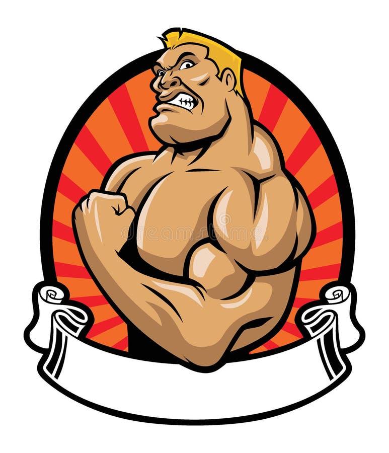 Muscle bodybuilder stock illustration