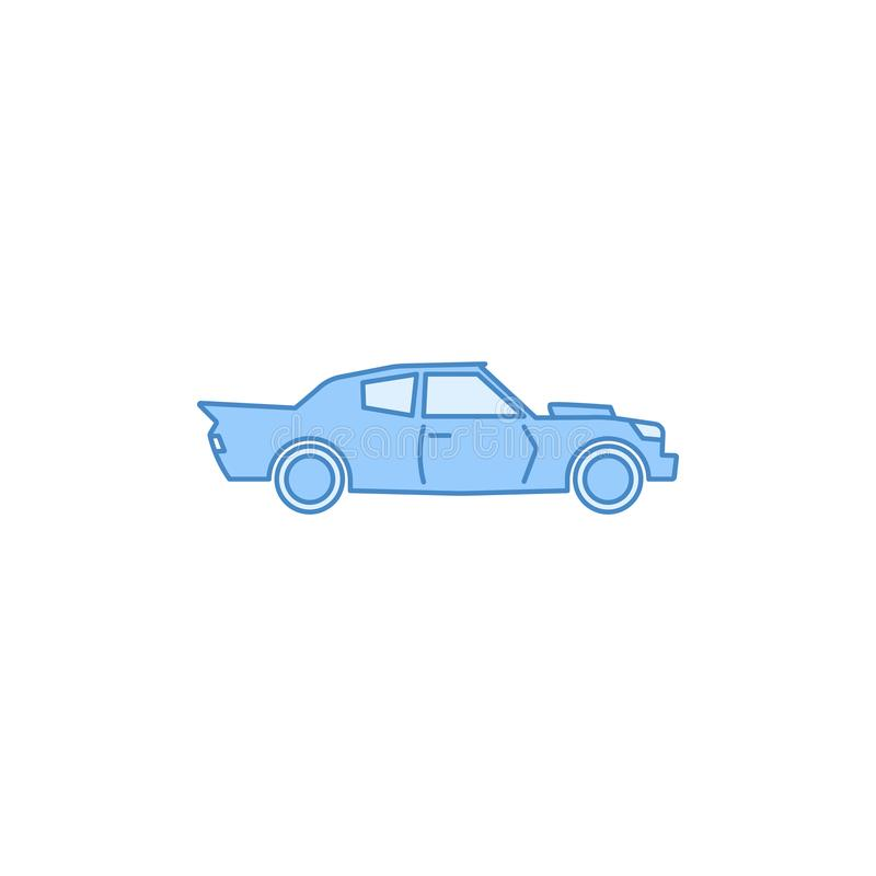 Muscle car filled outline icon. Element of transport icon for mobile concept and web apps. Thin line Muscle car filled outline ico stock illustration