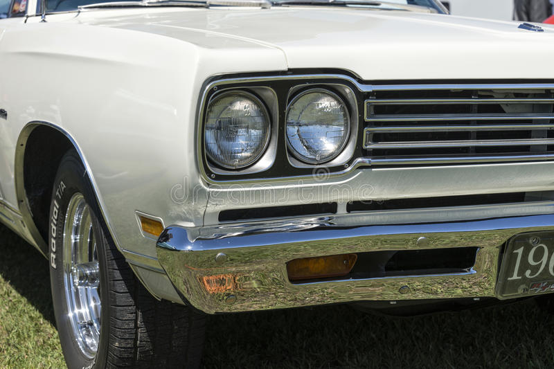 Muscle car headlight royalty free stock images