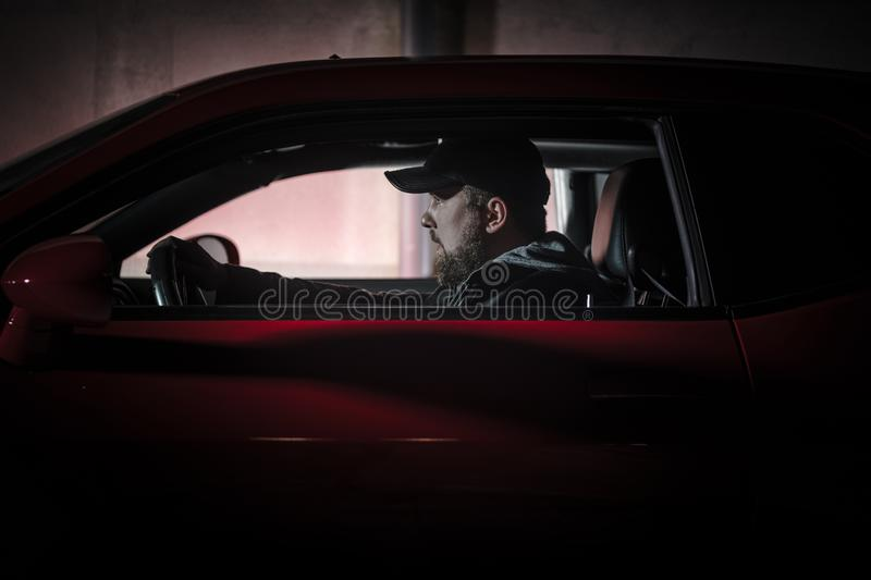 Muscle Car Night Drive stock photography