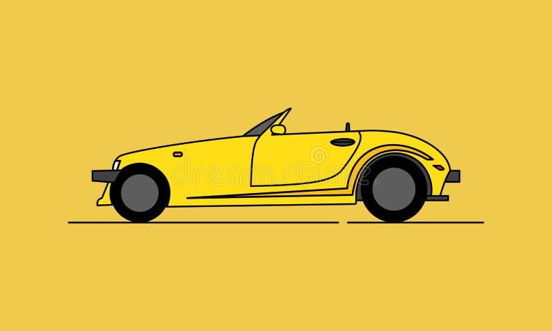 Cartoon Hotrod Car. Muscle car silhouette american classic automotive automobile transport transportation. Logo Design stock illustration