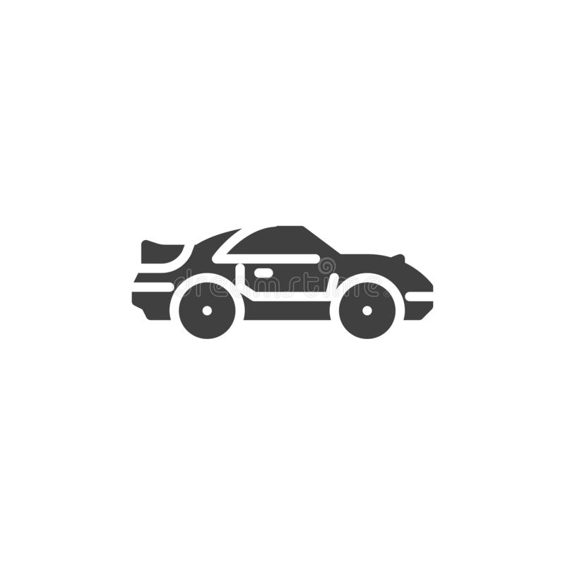 Muscle car vector icon. Filled flat sign for mobile concept and web design. Coupe car glyph icon. Symbol, logo illustration. Vector graphics stock illustration