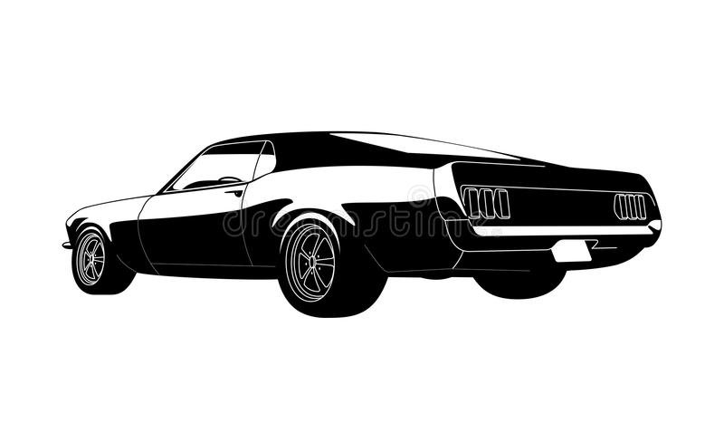 Muscle car stock illustration