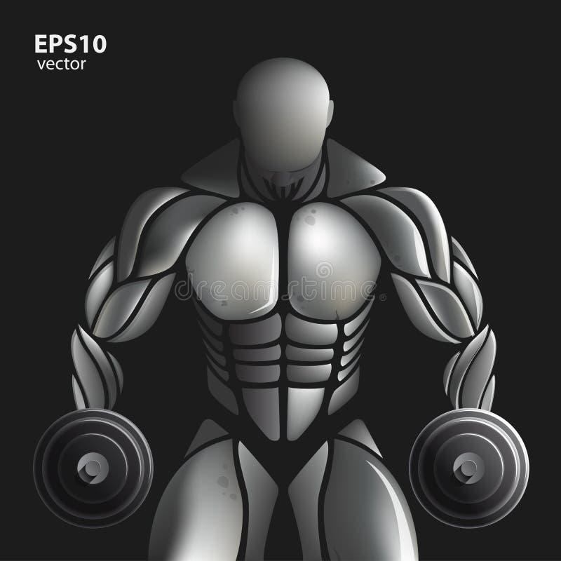 Muscle en acier illustration de vecteur