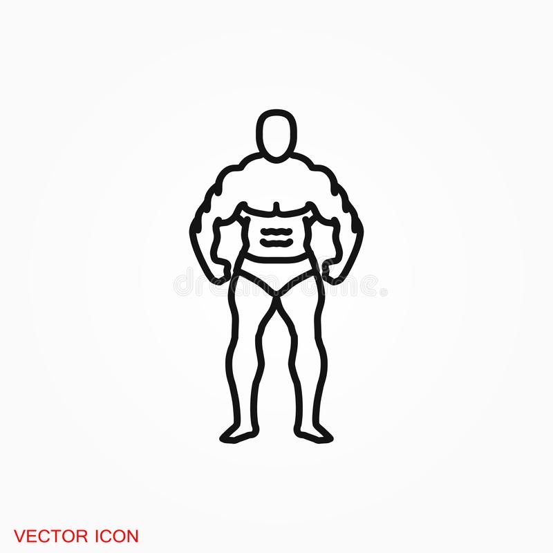 Muscle icon logo, illustration, sign symbol for design. Muscle icon logo, sign symbol for design vector illustration