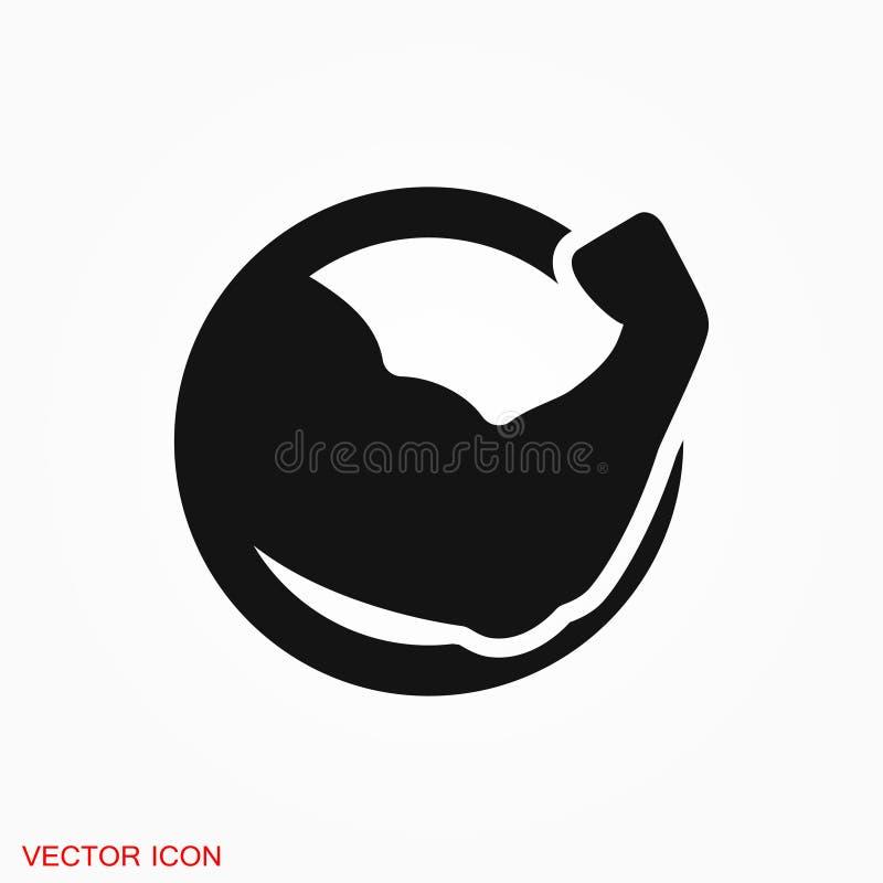 Muscle icon logo, illustration, sign symbol for design. Muscle icon logo, sign symbol for design stock illustration