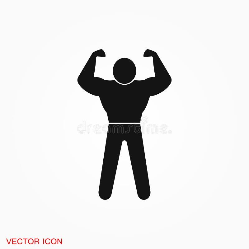 Muscle icon logo, illustration, sign symbol for design. Muscle icon logo, sign symbol for design royalty free illustration