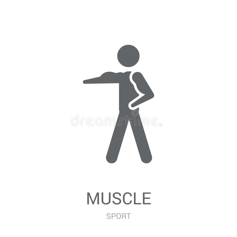 Muscle icon. Trendy Muscle logo concept on white background from. Sport collection. Suitable for use on web apps, mobile apps and print media vector illustration