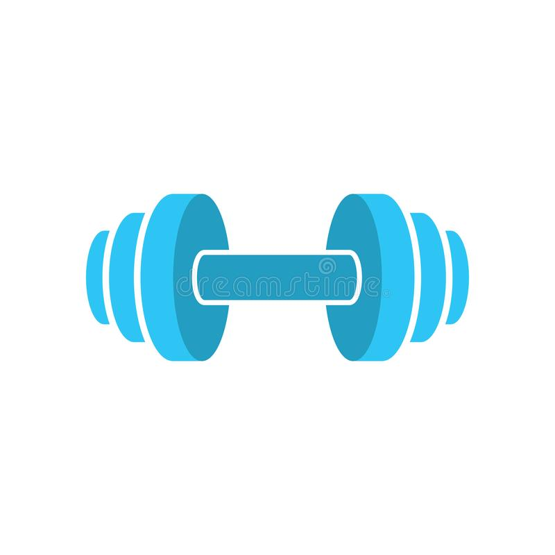 Muscle lifting icon - fitness barbell - gym icon - flat vector illustration isolated on white background. vector illustration