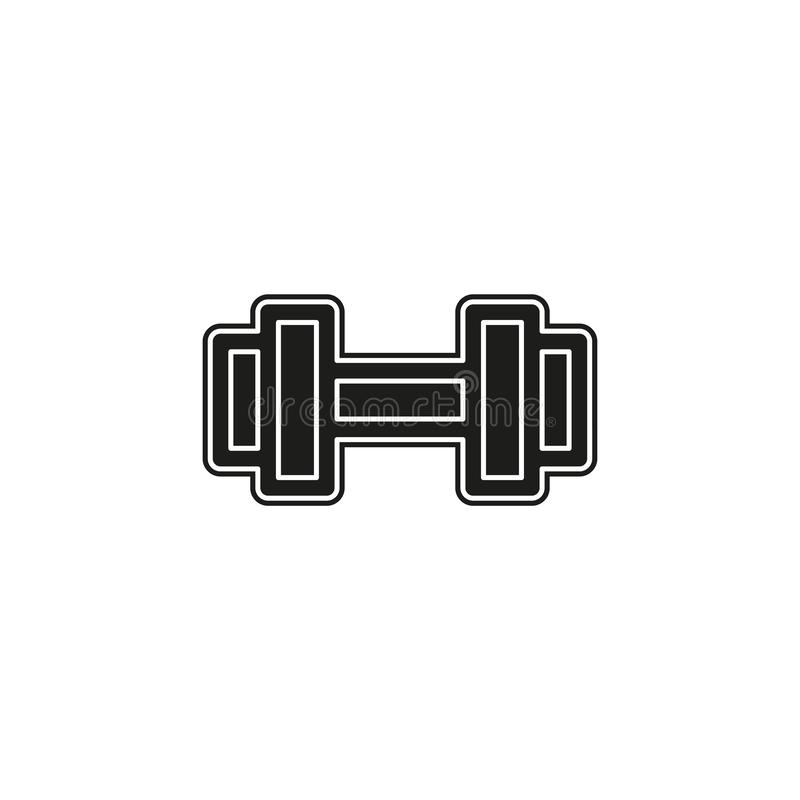 muscle lifting icon, fitness barbell, gym vector illustration