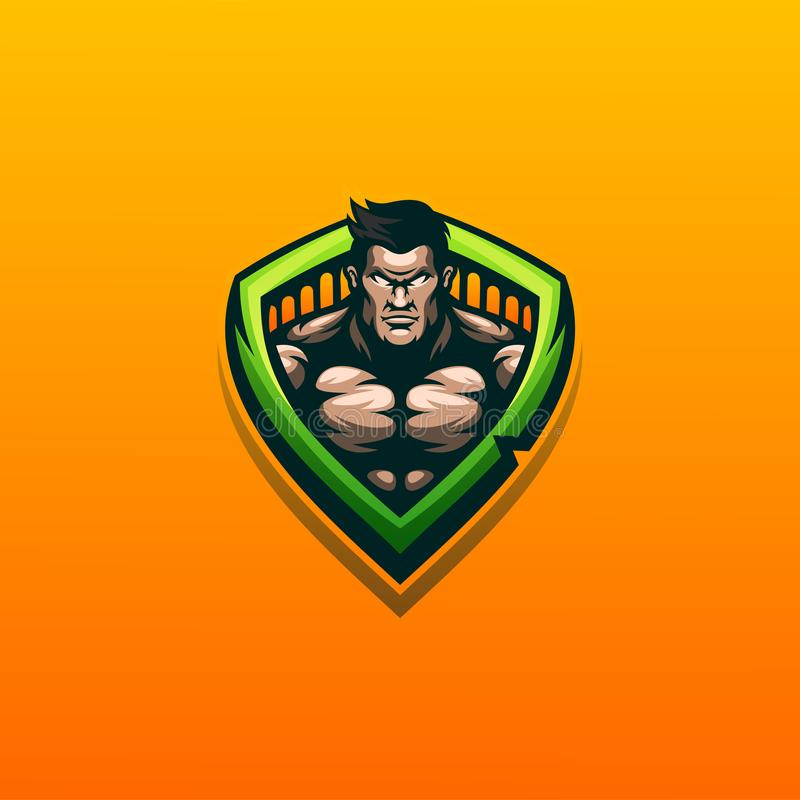 Muscle logo design  illustration ready to use. Awesome muscle logo design  illustration ready to use royalty free illustration