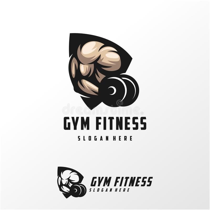 Muscle logo design  illustration template. Ready to use royalty free illustration