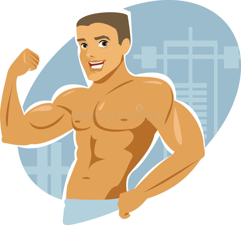 Download Muscle man stock vector. Image of building, macho, health - 19317300