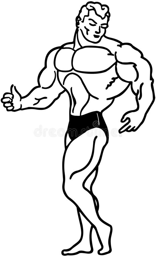 muscle man stock vector illustration of fitness clipart 42096043 rh dreamstime com cartoon muscle man clip art muscle man silhouette clip art