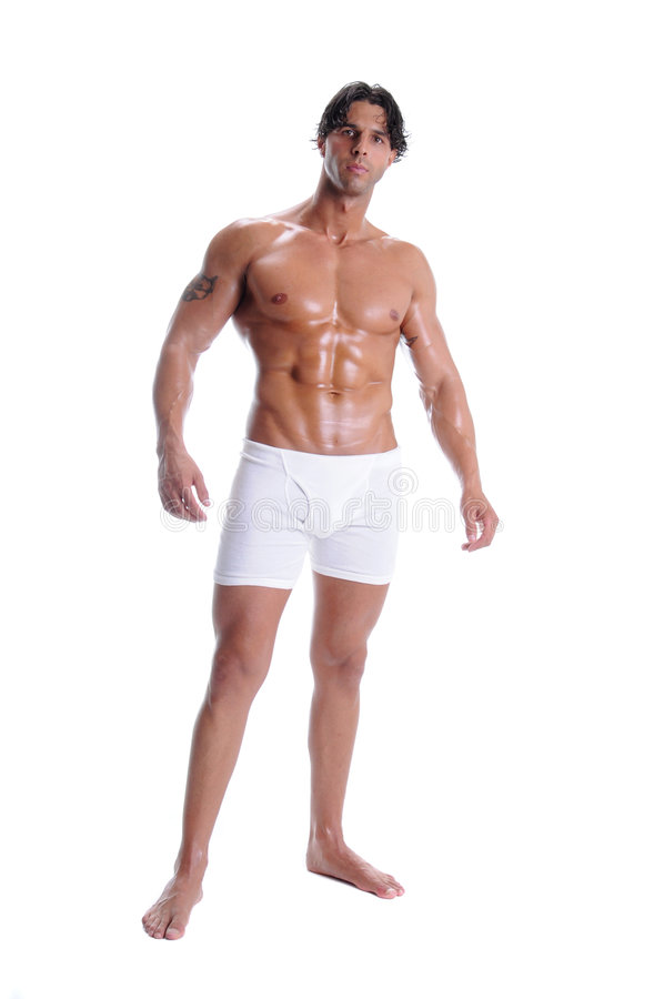 Muscle Man In Boxer Briefs stock photo