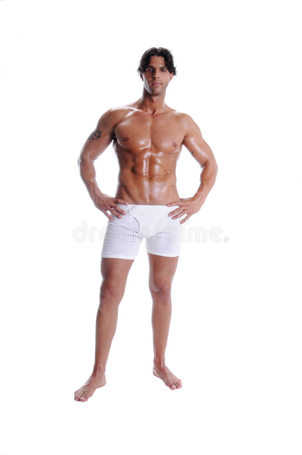 Muscle Man In Boxer Briefs stock image