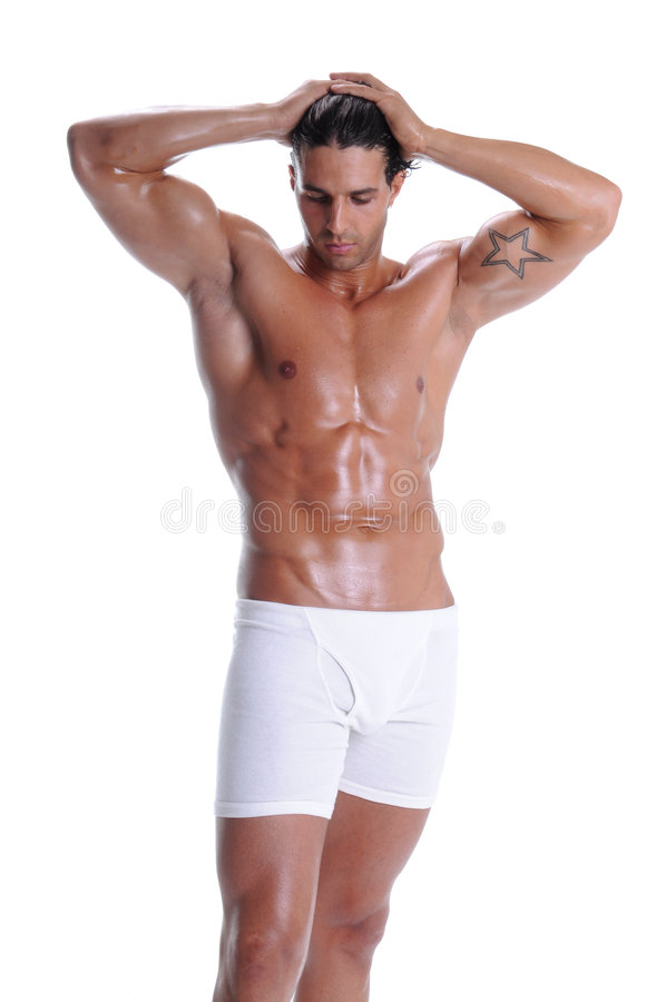 Muscle Man In Boxer Briefs stock images