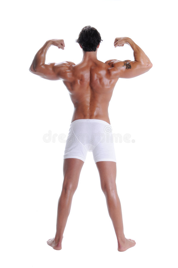 Muscle Man In Boxer Briefs royalty free stock photos