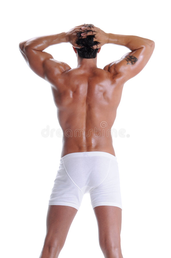 Muscle Man In Boxer Briefs royalty free stock images