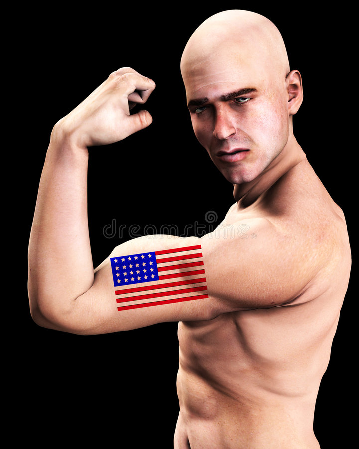 Muscle Man US 6 stock image. Image of citizen, patriot - 2366985