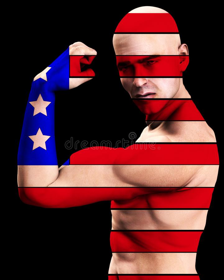 Download Muscle Man US 7 stock image. Image of american, nation - 2366993