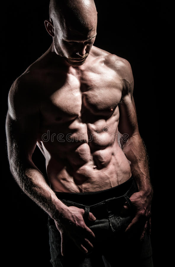 Muscle mass royalty free stock photography