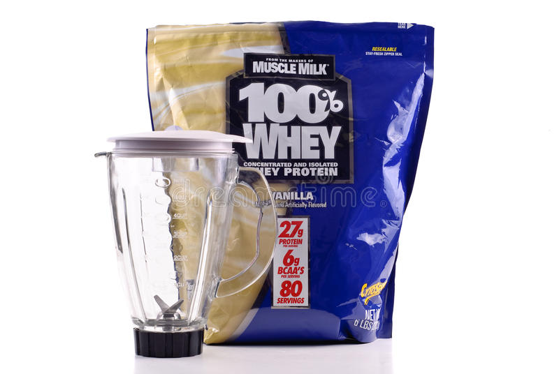 Muscle Milk Whey Protein stock photo