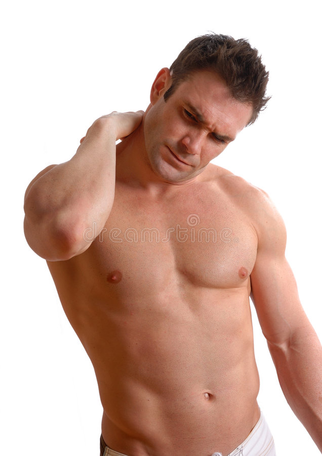 Muscle pain royalty free stock photo