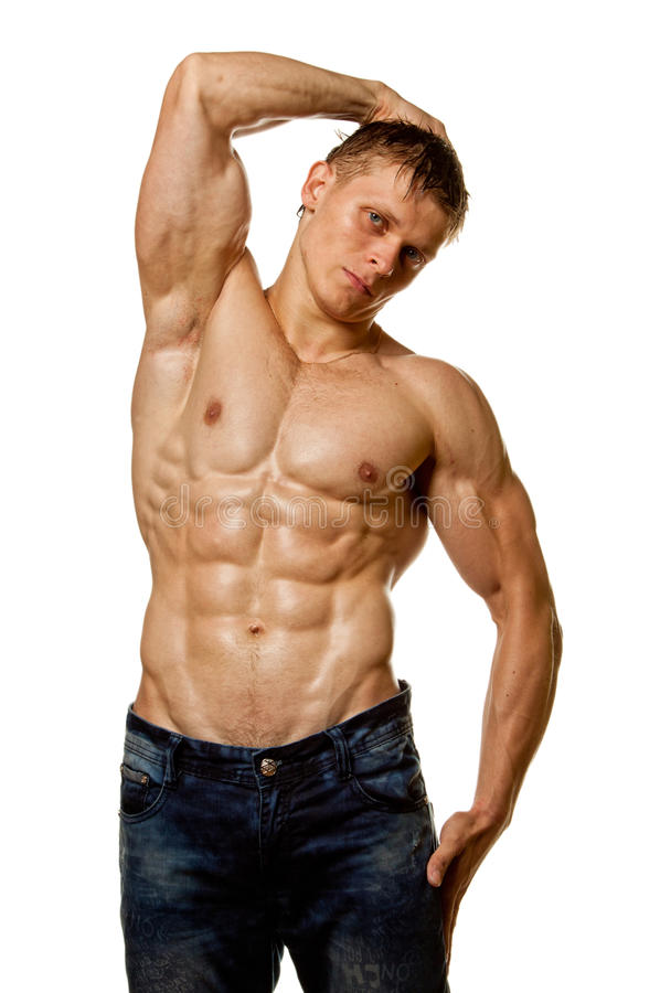 Download Muscle Wet Naked Young Man Posing Stock Photo - Image: 20570802
