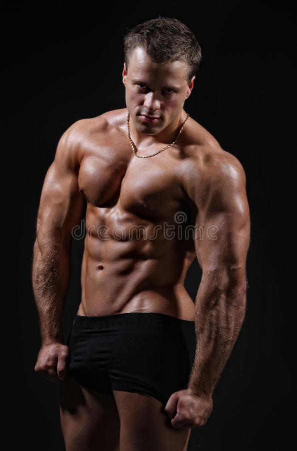 Download Muscle Wet Nude Young Man Posing Stock Photo - Image: 19366070