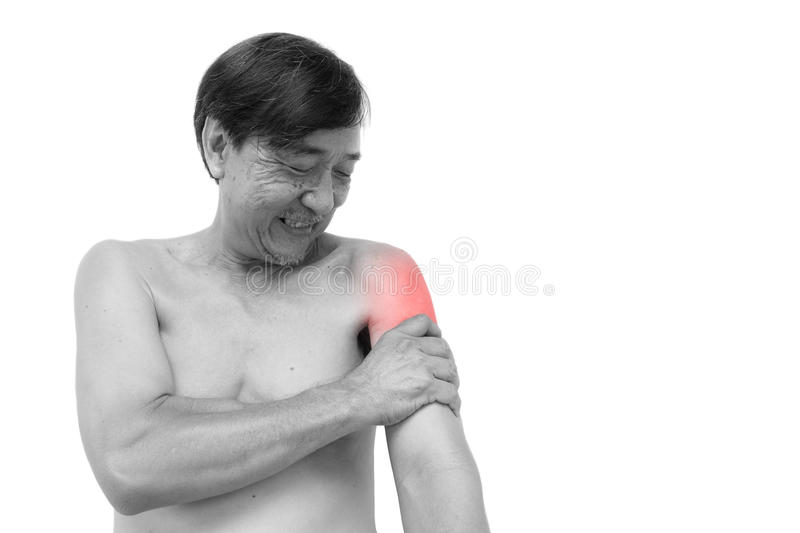 Muscle strain royalty free stock images