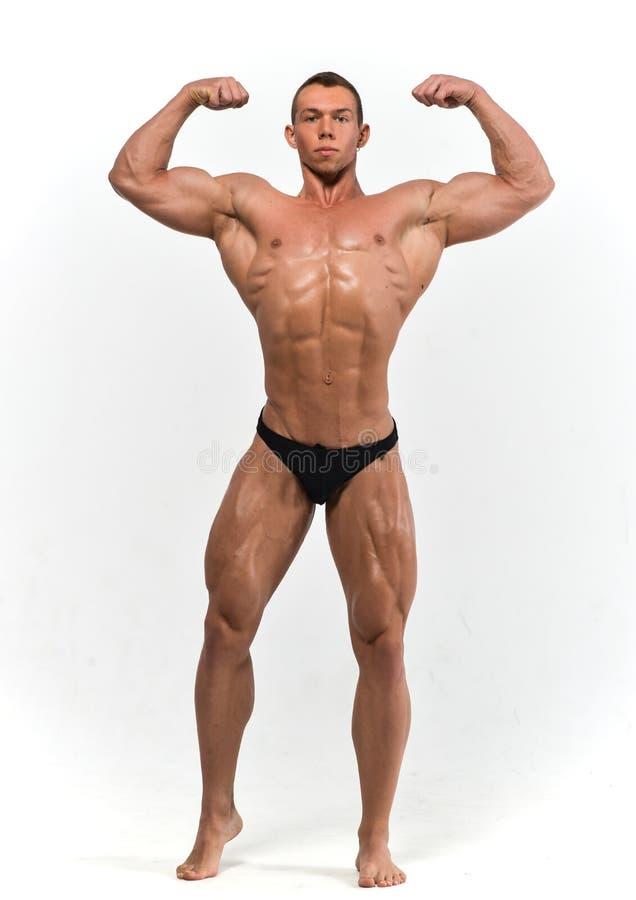 Muscled мыжская модель стоковые фотографии rf