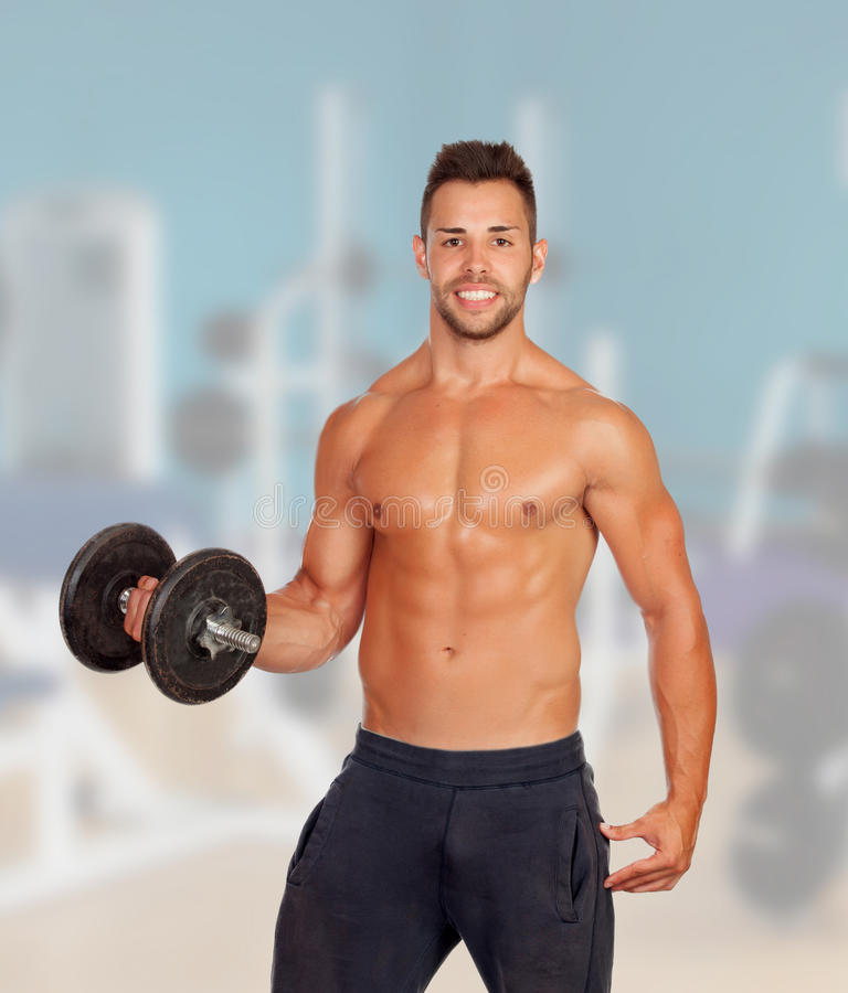Download Muscled Guy Lifting Weights Stock Photo - Image of caucasian, handsome: 32450168