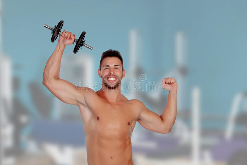 Download Muscled Guy Lifting Weights Stock Image - Image: 32495383