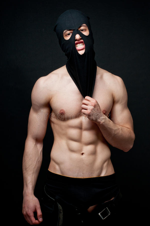 Muscled male stock photo