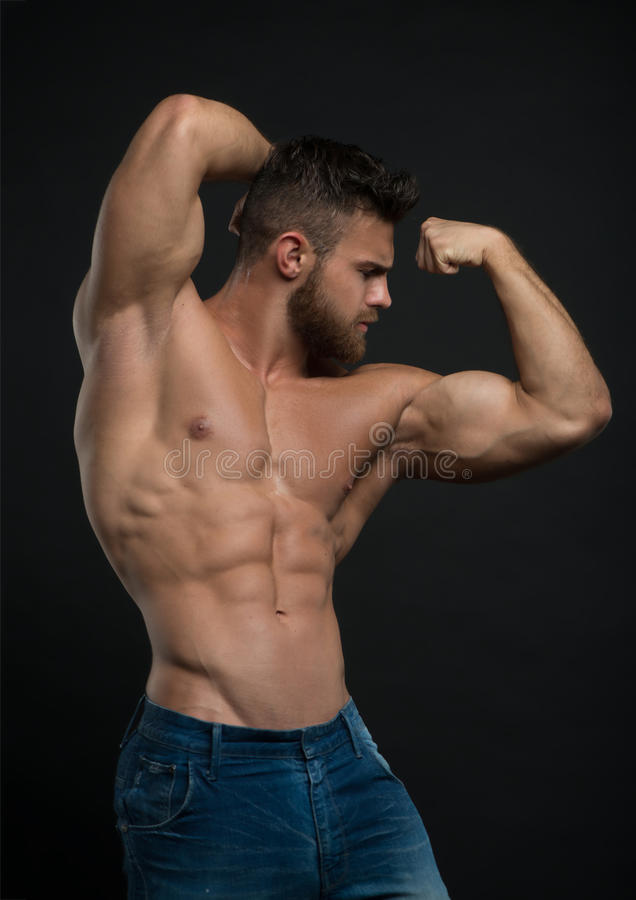 Russian muscle hunk on web cam