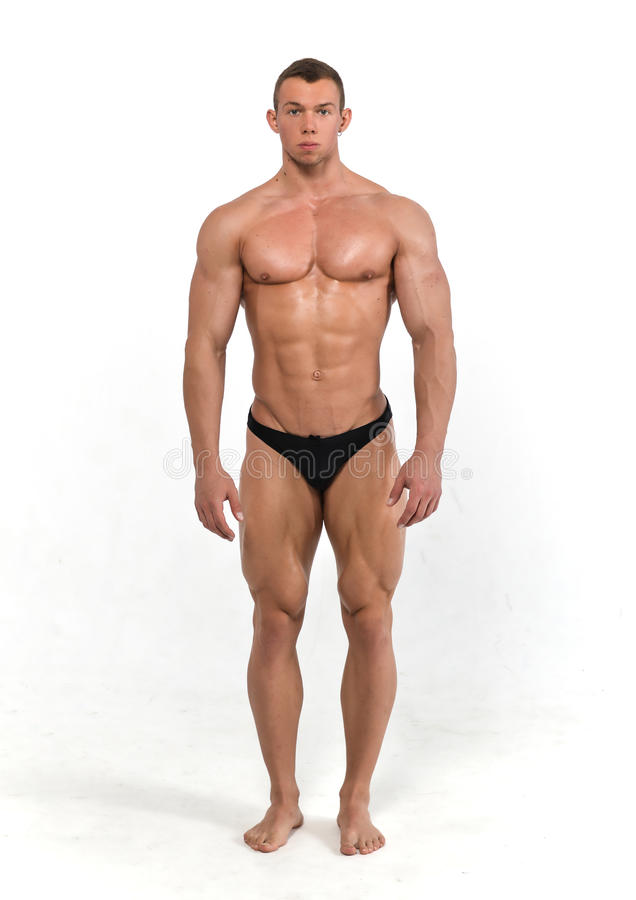 Muscled male model stock photography