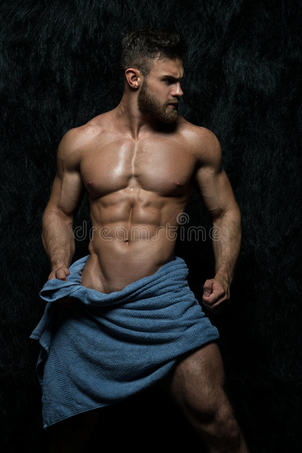 Free Muscled Male Model Wearing Towel Stock Photography - 63829302
