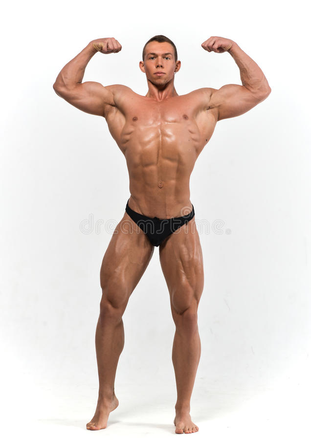 Muscled male model royalty free stock photos