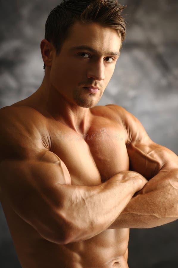 Muscleman stock foto's
