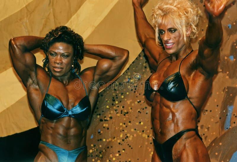 Musclewomen Posedown foto de stock royalty free