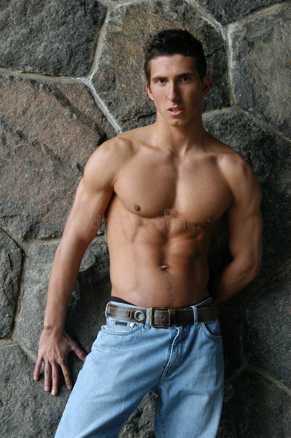 muscolare di modello maschio fotografia stock