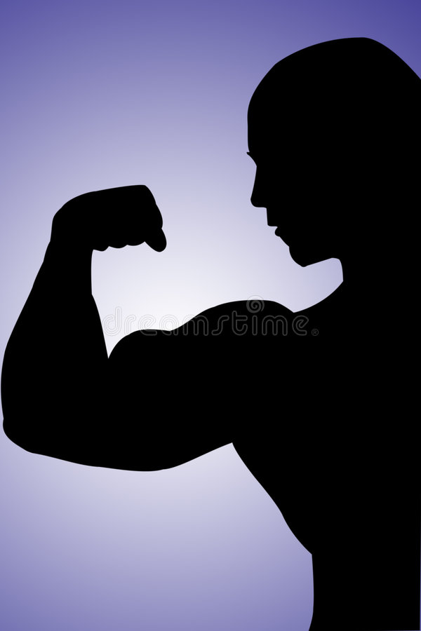 Muscular arm royalty free stock photo