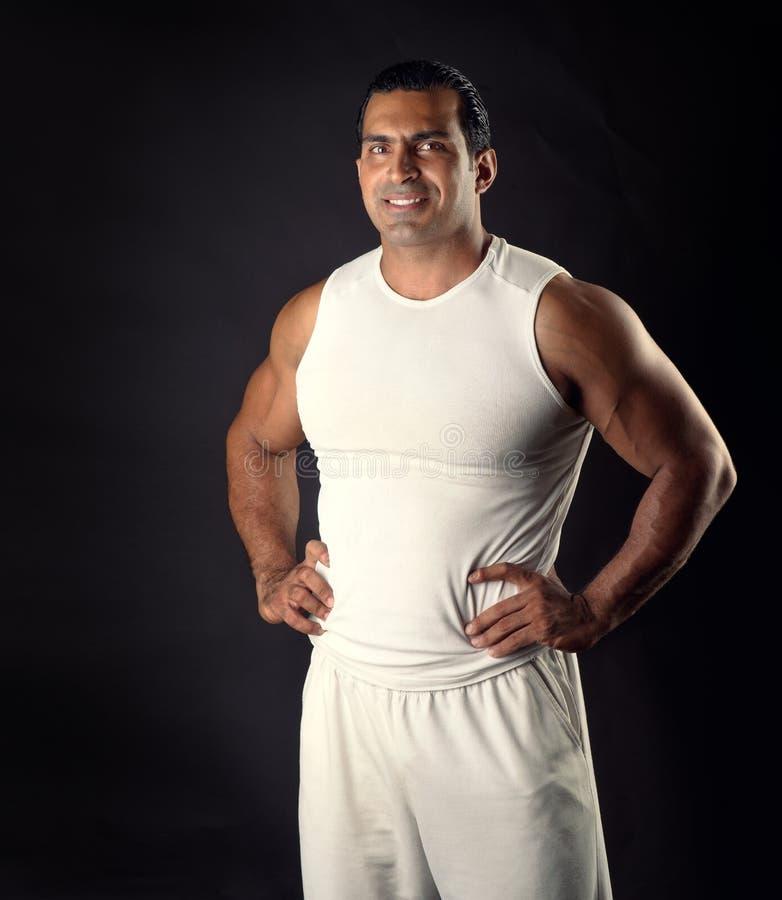 Muscular Athletic Man Posing Royalty Free Stock Photo