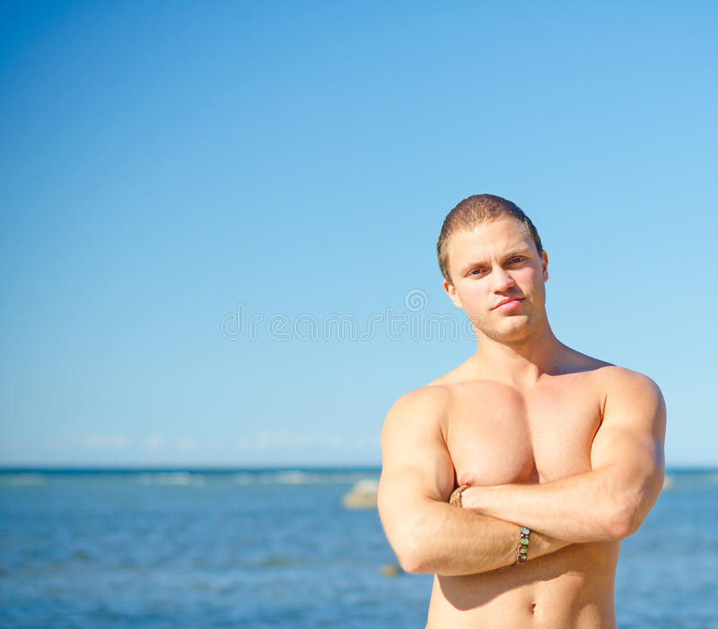 Download Muscular attractive man. stock photo. Image of caucasian - 43144090