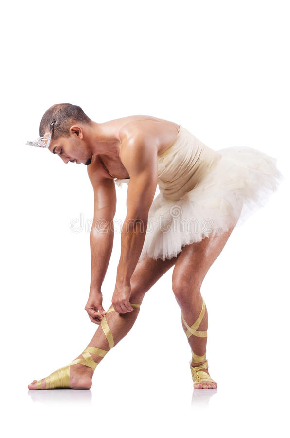 Muscular Ballet Performer Stock Image