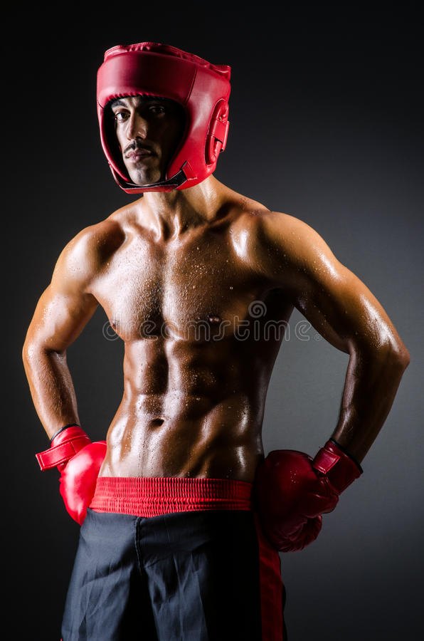 Download Muscular boxer stock photo. Image of conflict, competitive - 28348196